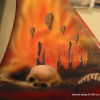 """Grim Reaper"" airbrush mural on lowrider bicycle"