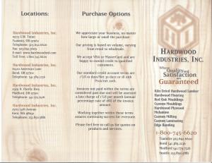 Hardwood brochure front small